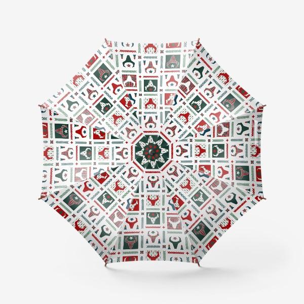 Зонт «Паттерн бык.»