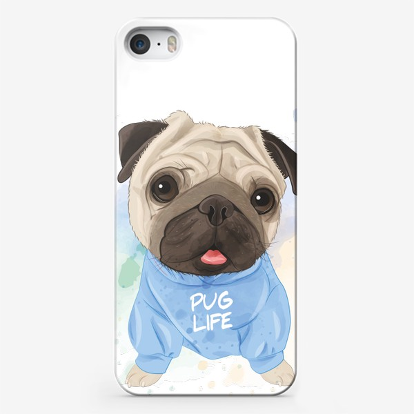 Чехол iPhone «Мопсик милота»