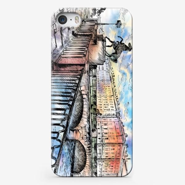 Чехол iPhone «Аничков мост с конями, Санкт-Петербург»