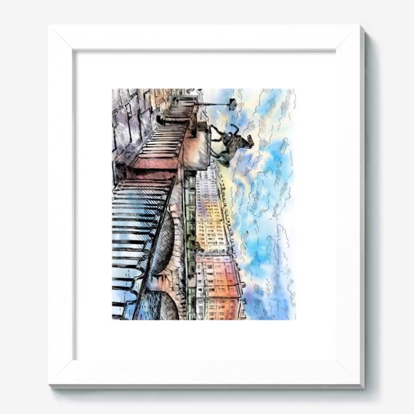 Картина «Аничков мост с конями, Санкт-Петербург»