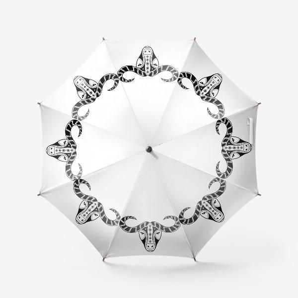 Зонт «Год быка 2021. Символ Нового года»