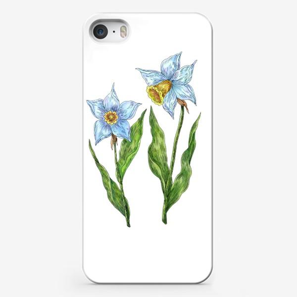 Чехол iPhone «Нарциссы белые цветы»