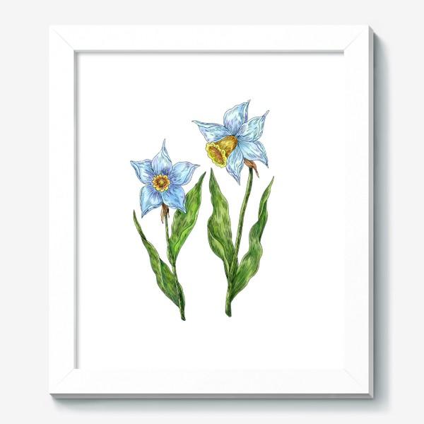 Картина «Нарциссы белые цветы»