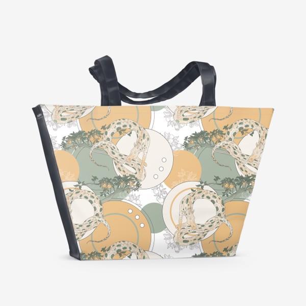 Пляжная сумка «Snake pattern»
