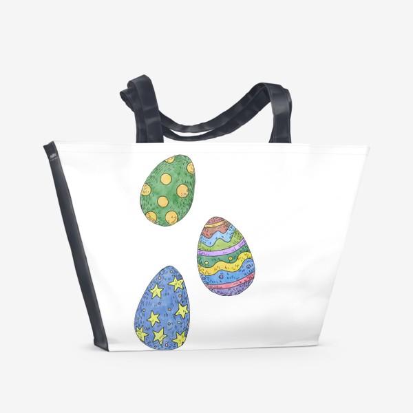 Пляжная сумка «Пасхальные яйца»