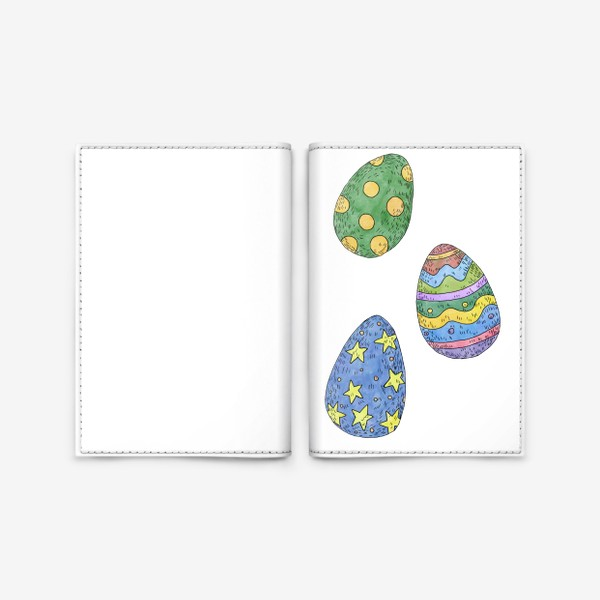 Обложка для паспорта «Пасхальные яйца»