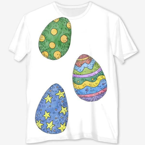 Футболка с полной запечаткой «Пасхальные яйца»