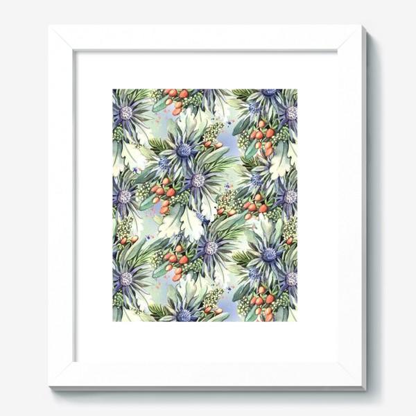 Картина «Зимний цветочный паттерн»