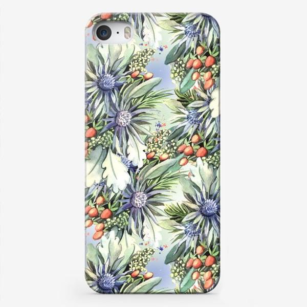 Чехол iPhone «Зимний цветочный паттерн»
