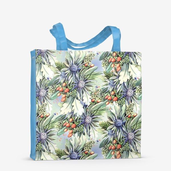 Сумка-шоппер «Зимний цветочный паттерн»