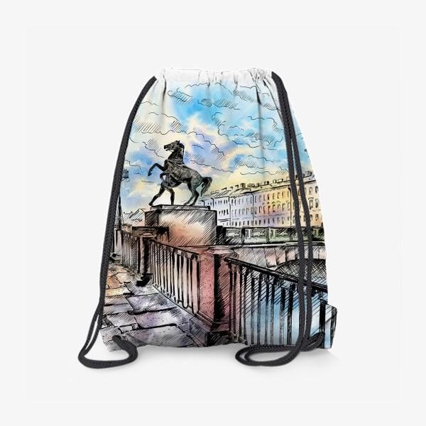 Рюкзак «Аничков мост с конями, Санкт-Петербург»