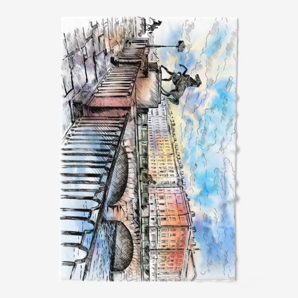 Полотенце «Аничков мост с конями, Санкт-Петербург»