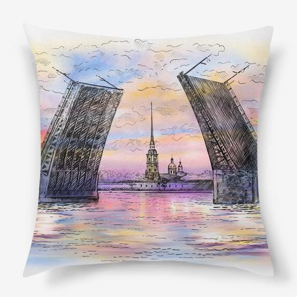 Подушка «Дворцовый мост, Санкт-Петербург»