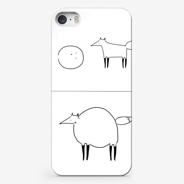 Чехол iPhone «Лиса и колобок. Омномномном»