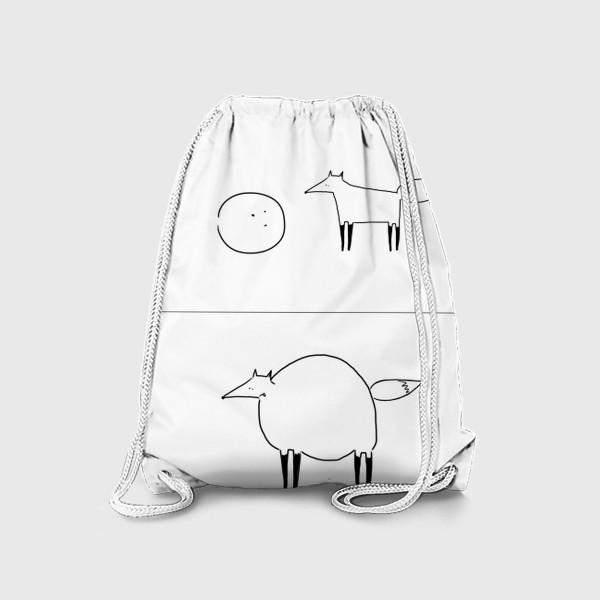 Рюкзак «Лиса и колобок. Омномномном»