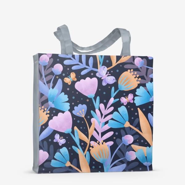 Сумка-шоппер «Абстрактные цветы»