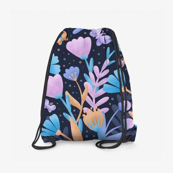 Рюкзак «Абстрактные цветы»