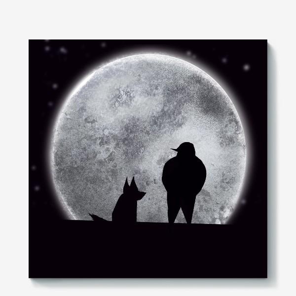 Холст «Романтик с собакой »