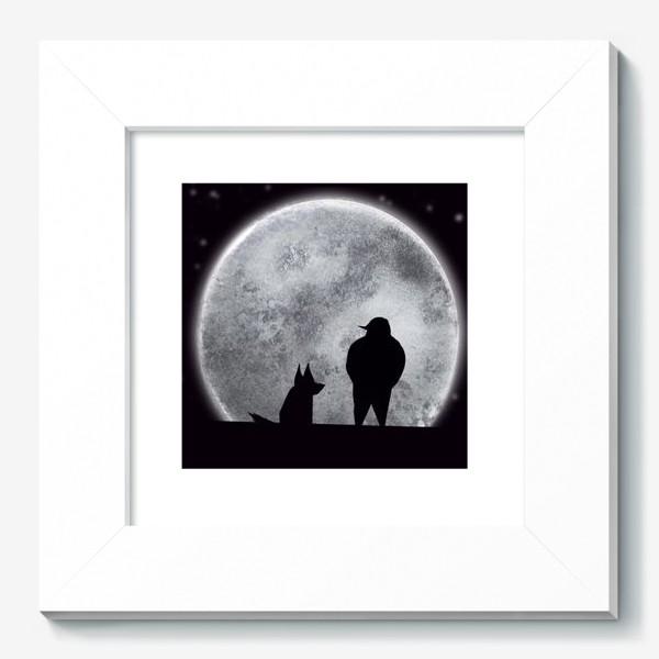 Картина «Романтик с собакой »