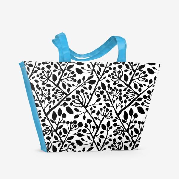 Пляжная сумка «Цветущие ветки дерева»