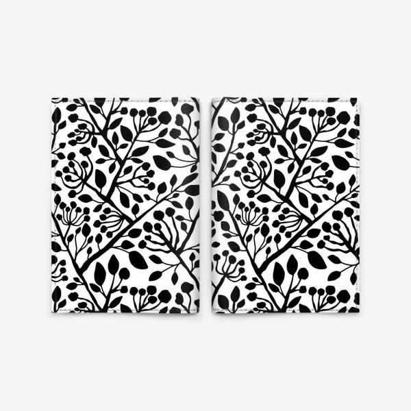 Обложка для паспорта «Цветущие ветки дерева»