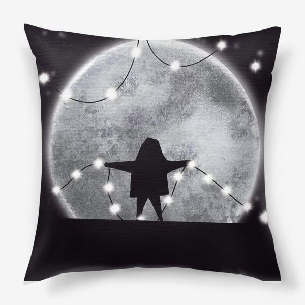 Подушка «Звездочёт на чёрном »