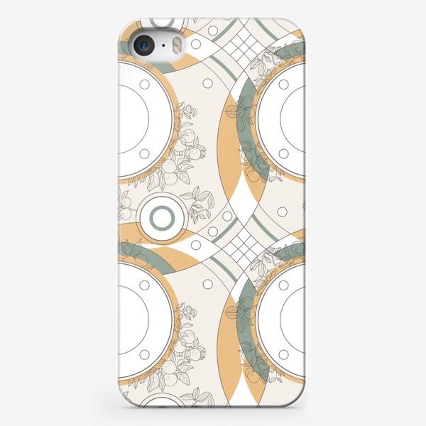Чехол iPhone «Circles_orange_green»