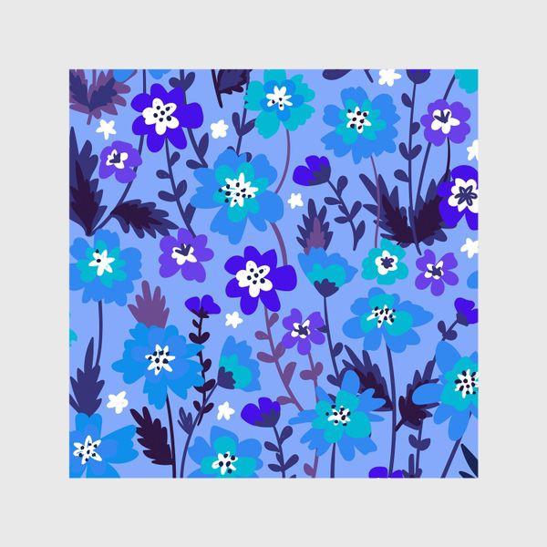 Шторы «Синие цветы»