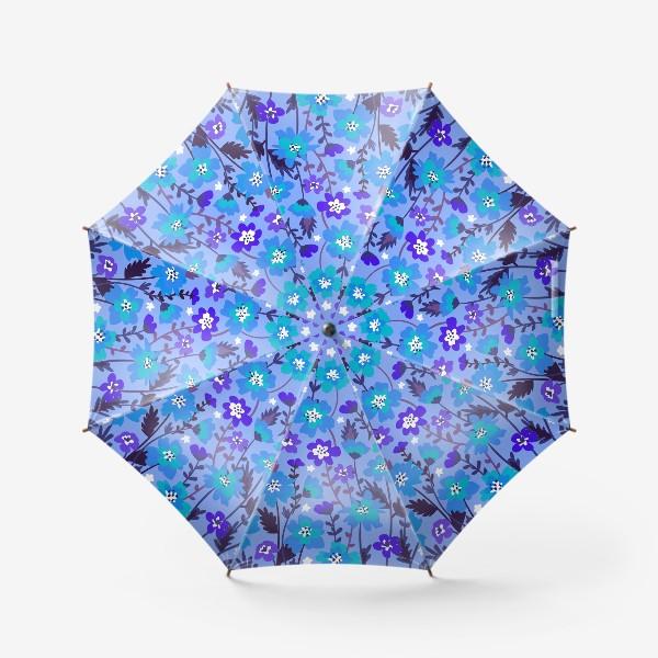 Зонт «Синие цветы»