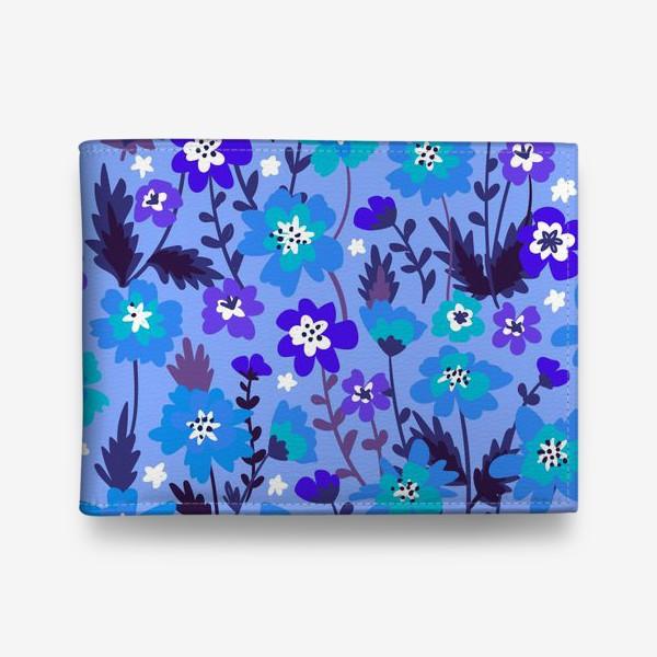 Кошелек «Синие цветы»