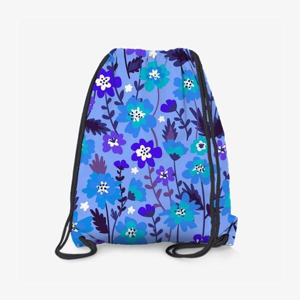 Рюкзак «Синие цветы»