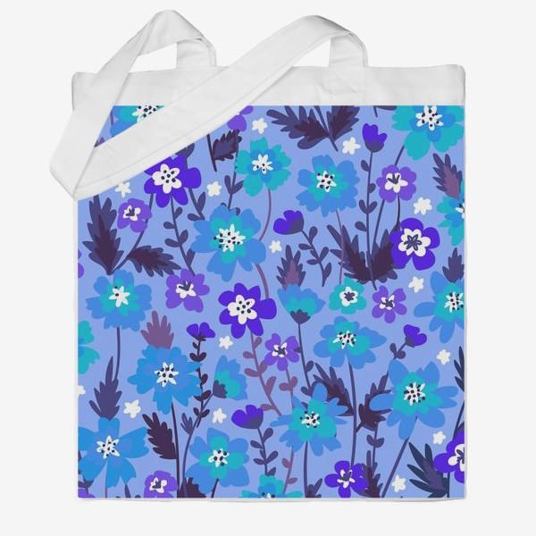 Сумка хб «Синие цветы»