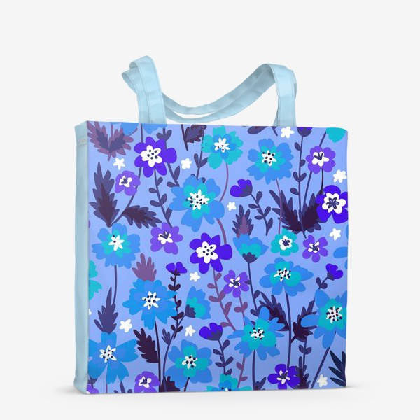 Сумка-шоппер «Синие цветы»