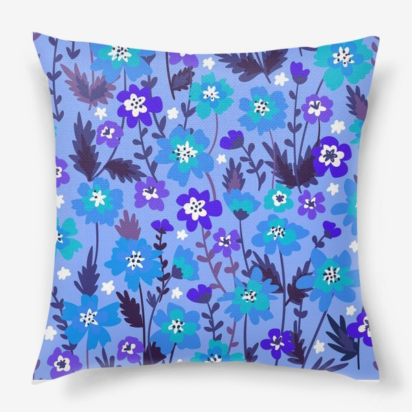 Подушка «Синие цветы»
