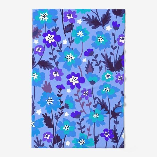 Полотенце «Синие цветы»