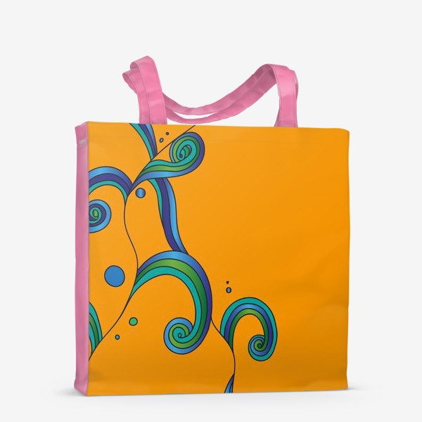 Сумка-шоппер «Водоросли на оранжевом фоне»