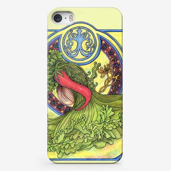 Чехол iPhone «Специи и овощи 2  Модерн Ар нуво»