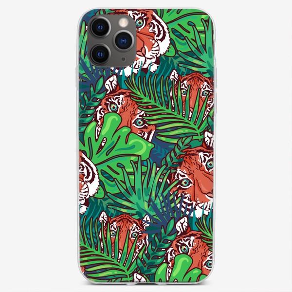 Чехол iPhone «Тигр в лесу»