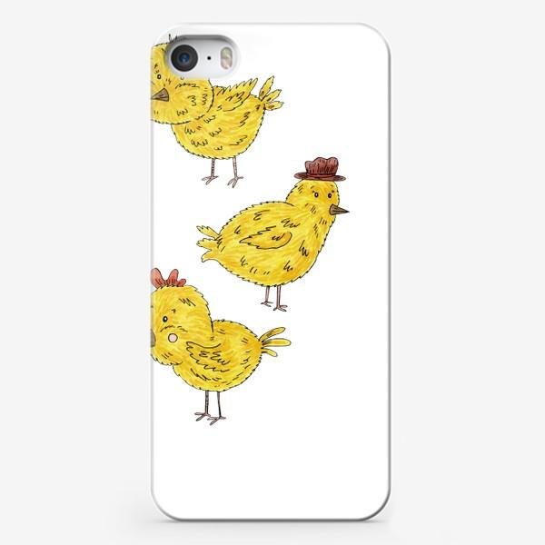 Чехол iPhone «Веселые цыплята»