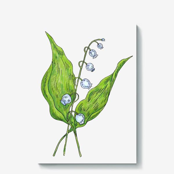 Холст «Майский ландыш весенний цветок»