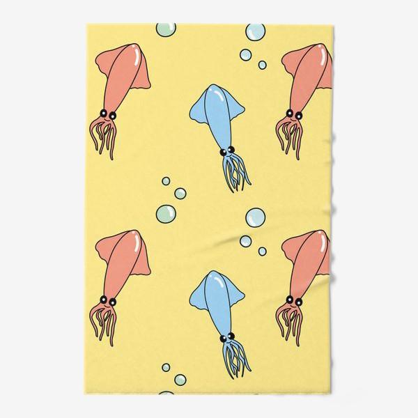 Полотенце «Паттерн с кальмарами»