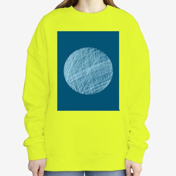 Свитшот «Луна, абстракция на синем»