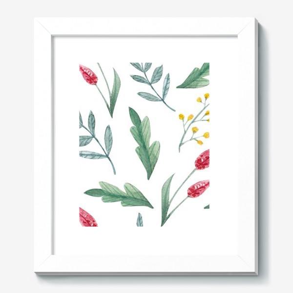 Картина «Акварельные полевые растения»