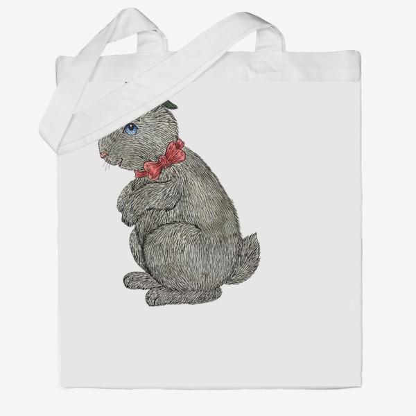 Сумка хб «Милый кролик в шляпе»