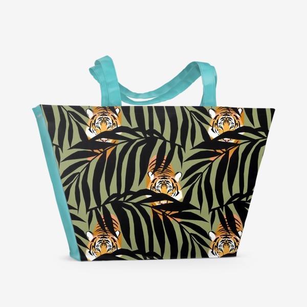 Пляжная сумка «Тигр Тропический лес»