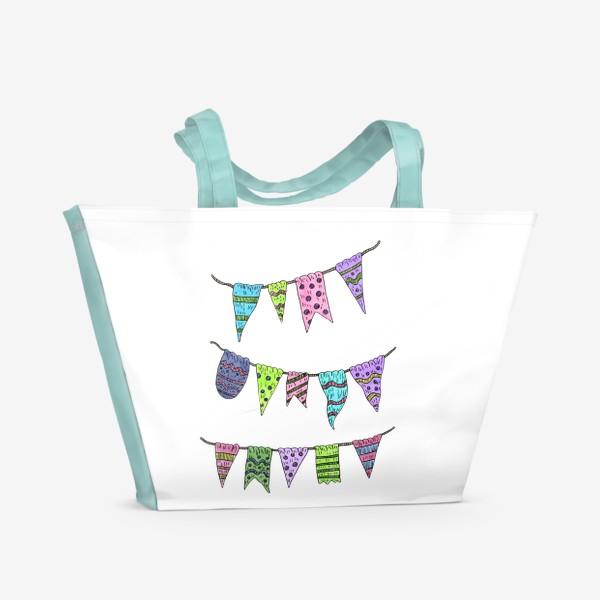 Пляжная сумка «Праздничные гирлянды»
