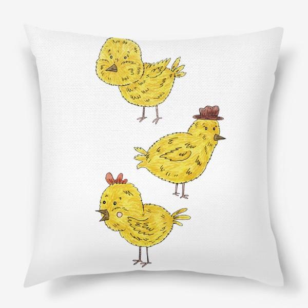 Подушка «Веселые цыплята»