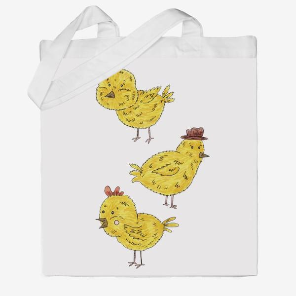 Сумка хб «Веселые цыплята»