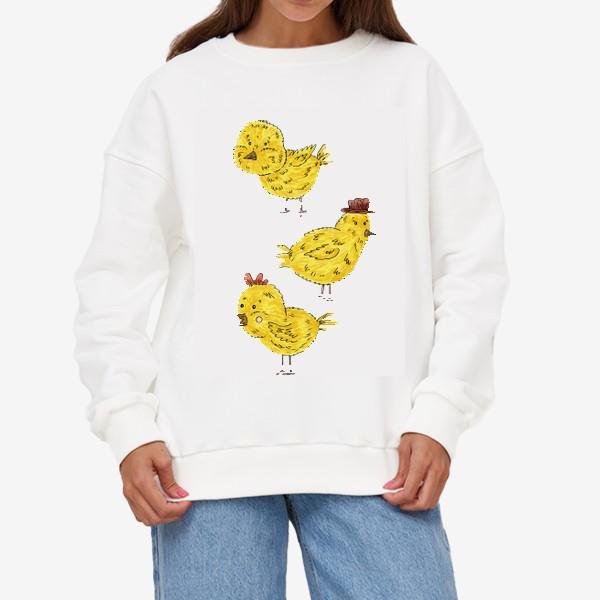 Свитшот «Веселые цыплята»