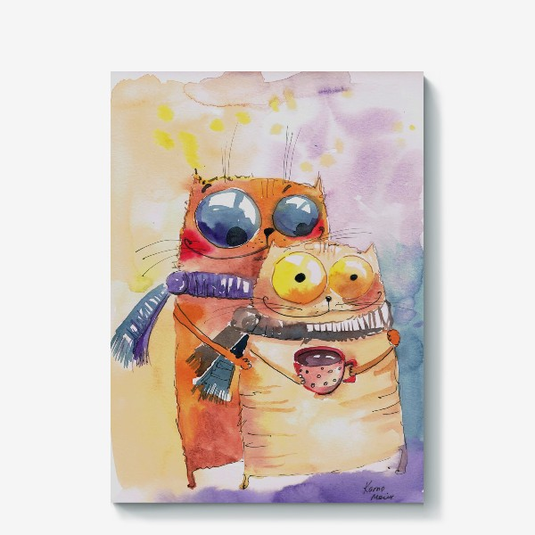 Холст «Теплые коты»